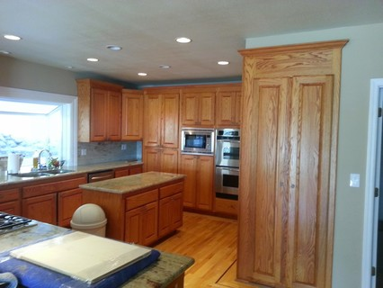 kitchen in need of cabinet refacing
